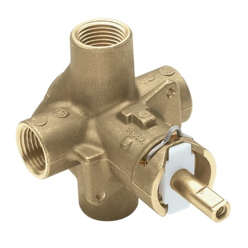 - Moen 2510 Brass Posi-Temp Pressure Balancing Tub and Shower Valve, 1/2-Inch IPS Connections