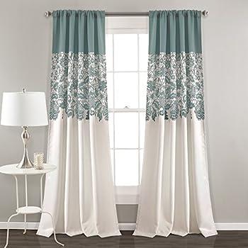 Amazon Com Lush Decor Mia Curtain Panel Pair 54 Inch By