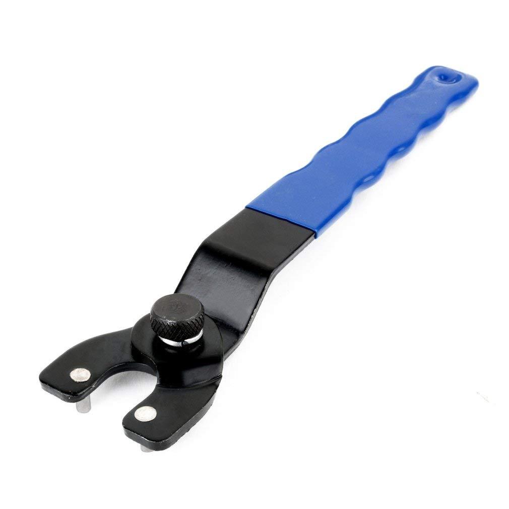 SEN Chiave a Perno Regolabile Chiave in plastica per smerigliatrice angolare Chiave a forchetta Chiave Blu e Nera