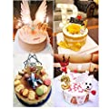 2.76'' Large Extended XXL Multi-Color Gold Glitter Happy Birthday Long Numbers Candles Cake Topper Decoration for Adults/Kids Party Wedding
