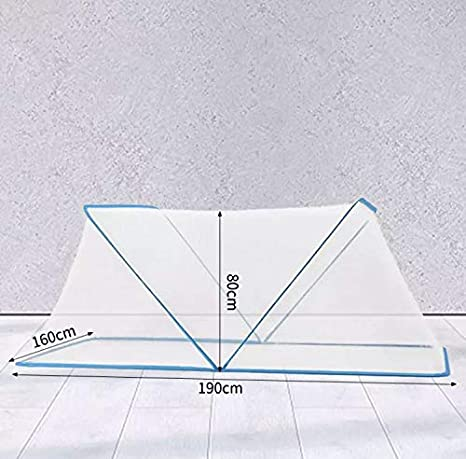 Breathable Insect Screen Blue, Small Bottomless Mosquito Net OADAA Foldable Mosquito Net Mosquito Net Portable Foldable Mosquito Net Protection Network for Adult Chirdren