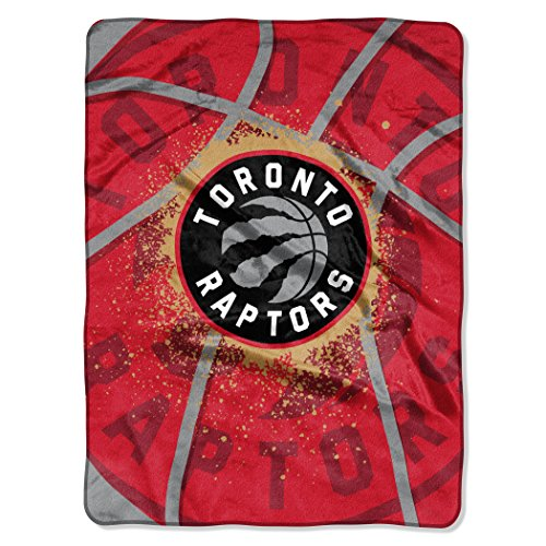 (Officially Licensed NBA Toronto Raptors Shadow Play Plush Raschel Throw Blanket, 60