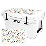 MightySkins Protective Vinyl Skin Decal for RTIC 45 Cooler Lid (2016) wrap Cover Sticker Skins Fun Guns