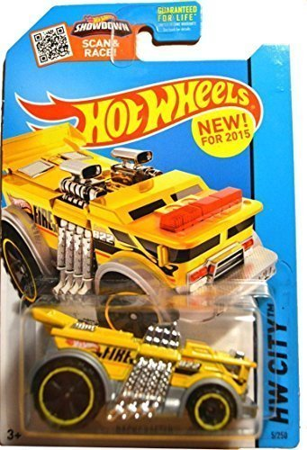 Hot Wheels, 2015 HW City, Backdrafter Fire Truck [Yellow] Die-Cast Vehicle #5/250 -