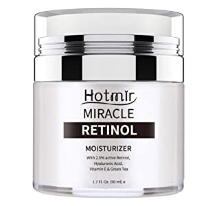 Hotmir Retinol Moisturizer Cream for Face and Neck, | with 2.5% Retinol, Hyaluronic Acid, Vitamin E and Green Tea | Anti Wrinkle Cream for Men and Women - 1.7 fl oz