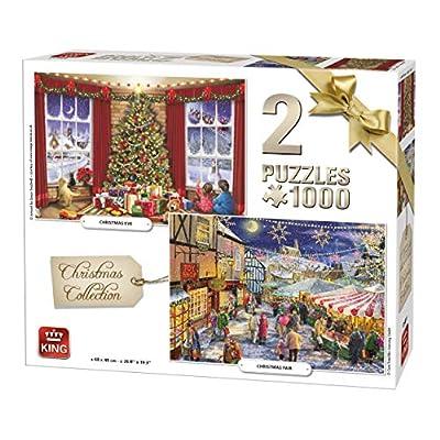 King International 5811 Puzzle Da 1000 Pezzi 2 Puzzle Collezione Natalizia Multicolore