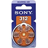 Sony Hearing Aid Battery Size 312 made in Japan Genuine Pack (30 batteries)