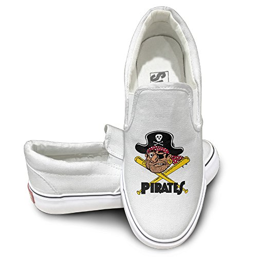 NF18G Pitts Pirates Funny Canvas Shoes Size42 White