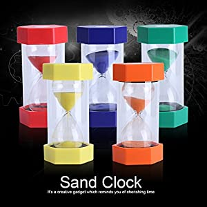 Cristal de Arena de Vidrio Reloj de Arena 3/10/20/30/60 Minutos Temporizador Reloj Decoración de la Oficina en Casa Regalo(30 Minutos Rojo) 7