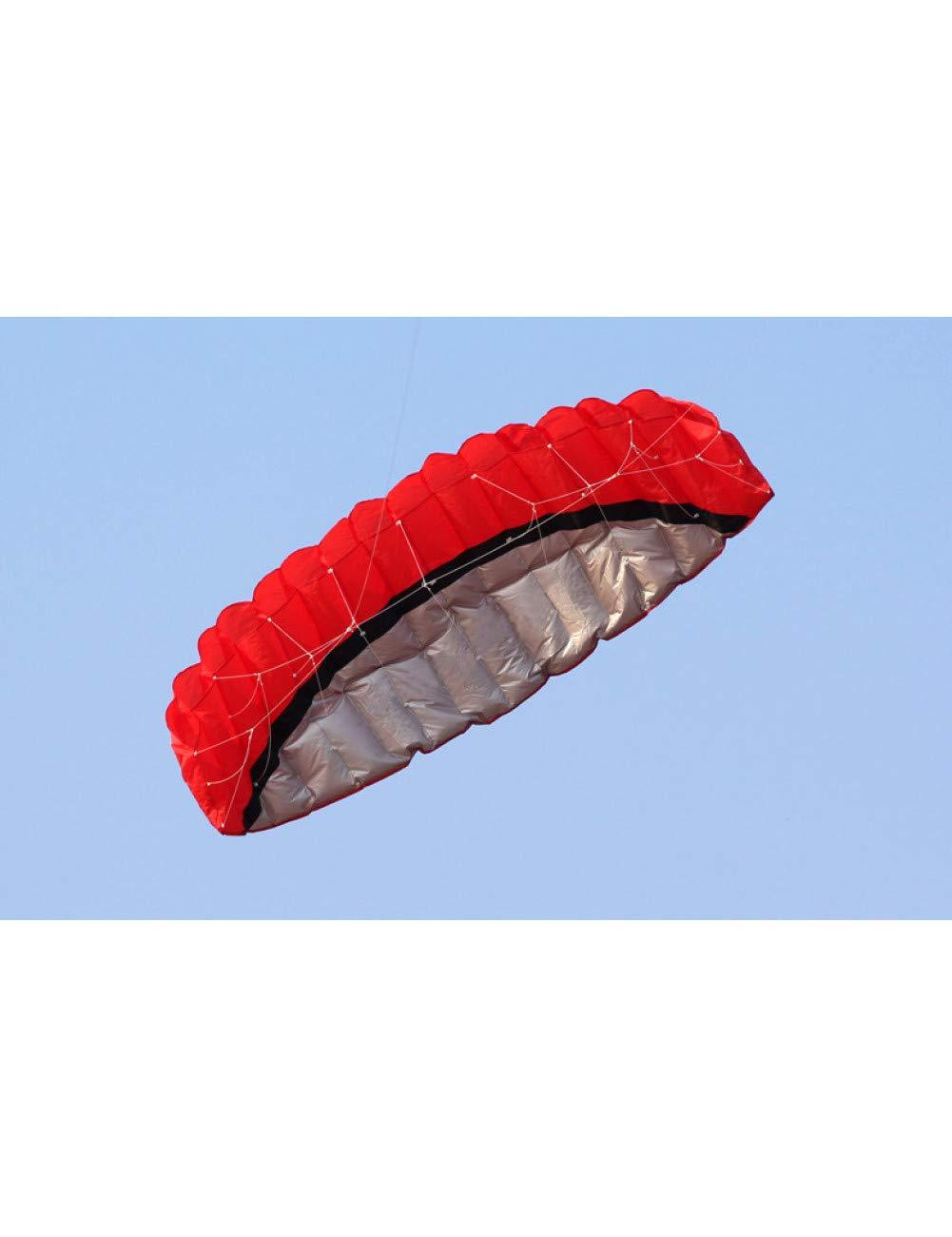 B  ZSYF Cerf-Volant Kite 2,5 M Dual Line 4 Couleurs Parafoil Parachute Sport plage Kite Facile à Piloter