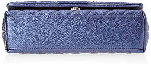 by Blu Tua 5x29 cm Blau Damen Braccialini Schultertasche 8x19 Patch aS4Y4q8wd