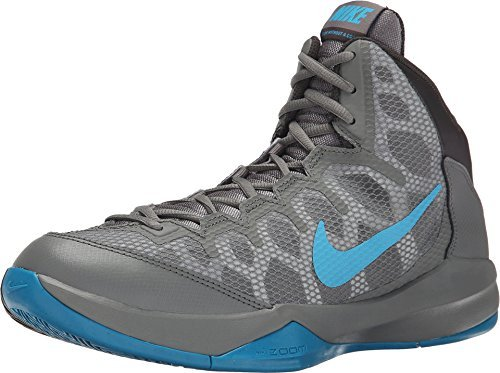 4bce5559454382 Galleon - Nike Men s Zoom Without A Doubt Basketball Shoes New Deep Pewter  Grey Blue