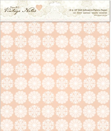 (Papermania Vintage Notes Fabric Paper-Filigree 1 pcs sku# 1773900MA)