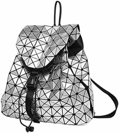 8b62f9968 Daily Backpack Geometry Package Sequins Female Folding Bags Bao School Bags