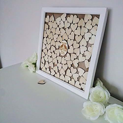 Wedding Gift Drop Box : : Personalized wedding drop top box guestbook,85 hearts, wedding gift ...