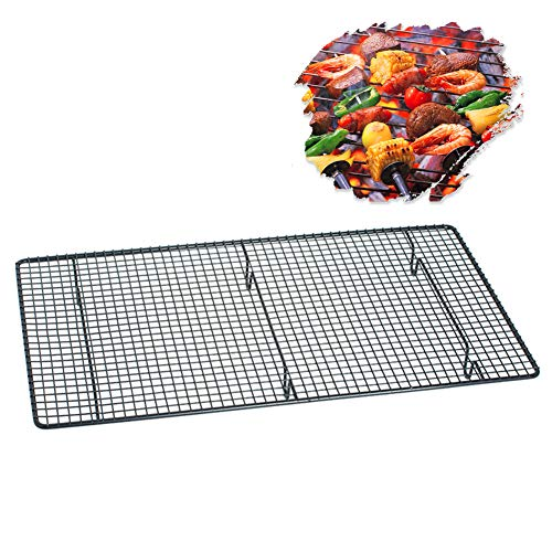 - AOFITEE Stainless Steel Cooling Rack Wire Baking Rack, Non-Stick BBQ Grilling Topper Grid, Oven and Dishwasher Safe Barbecue Baking Net Mesh Grate - 18 x 10 inches