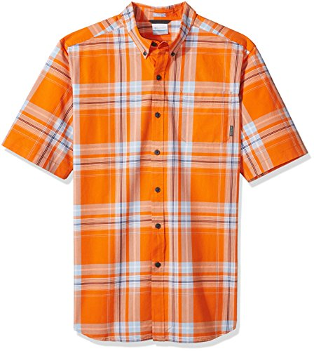 Columbia Men's Rapid Rivers Ii Big and Tall Short Sleeve Shirt, Heatwave Large Plaid, 2X