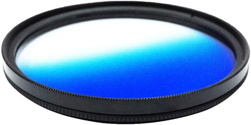 1pcs 37mm 40.5mm 43mm 46mm 49mm 52mm 55mm 58mm 62mm 67mm 72mm 77mm 82mm Graduated Blue Gradual Color Lens Filter Protector 40.5mm