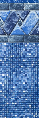 Smartline Stone Harbor 30-Foot Round Pool Liner | UniBead Style | 52-Inch Wall Height | 25 Gauge Virgin Vinyl | Designed for Steel Sided Above-Ground Swimming Pools | Universal Gasket Kit Included