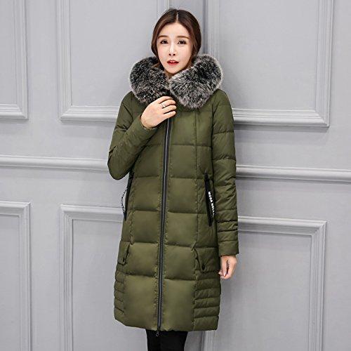 Xuanku Dickes Haar Kragen Daunenjacke Frauen In Der Langen Absatz Slim Winter Warme Jacke