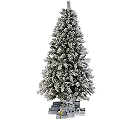 Dholdhamaka Artificial Plastic Christmas Tree With Heavy Snow Decorations 5 Feet