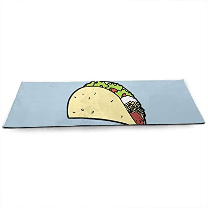 Amazon.com: I Hate Tacos Thick Exercise Yoga Mat Area Rug ...
