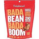Enlightened Bada Bean Bada Boom Plant Protein Gluten Free Roasted Broad (Fava) Bean Snack, Sriracha, 3oz, 6 Count