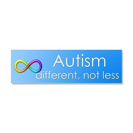 Cafepress autism different not less car magnet 10 x 3 car magnet