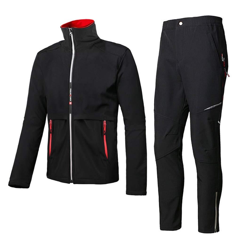 Thickened Rain Suit Windproof Waterproof Raincoats Unisex Warm Rainwear for Hiking/Mountaineering (Jacket and Trousers Set)