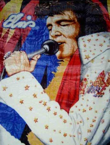 Elvis Presley Raschel Twin Blanket