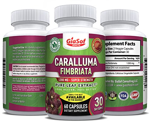 Premium Caralluma Fimbriata – Leaf Extract 1200 Mg. Super Strength – Best Weight Loss-Pills | Lose Weight-Fast | Fat-Carb-Blocker | Block Fat Intake | Build Lean-Muscle Fast | Slim Down Now | 60 Count