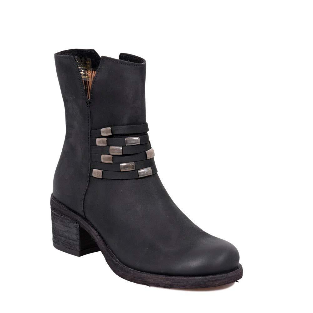 Felmini - Damen Schuhe - Verlieben Giani B284 - Hochhackige Stiefel - Echtes Leder - Schwarz