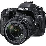 Câmera Canon DSLR EOS 80D com Lente 18-135mm