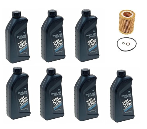7-Quarts Genuine Synthetic 5w30 Motor Oil & 1 Oil Filter for BMW E60 E61 E84 E85 E90 E91 E92 E93 530i X5 Z4