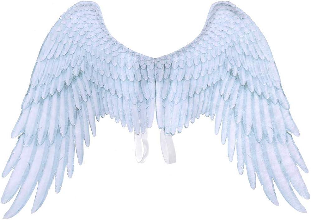 Alas de Hadas, Pluma de impresión 3D Extra Grande Alas de ángel de Hadas de Halloween para niños Alas de ángel Adultas Disfraces Pluma de Hadas para Accesorios de Fiesta
