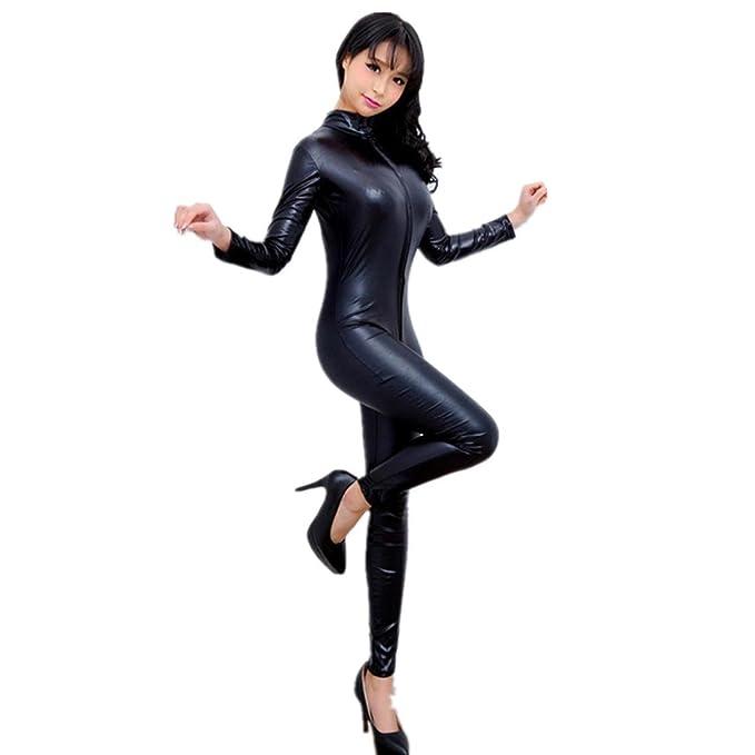 66eccc15aafe Lencería Mujer Amlaiworld Mono Mujer cuero ropa interior super cremallera  hueco camisón