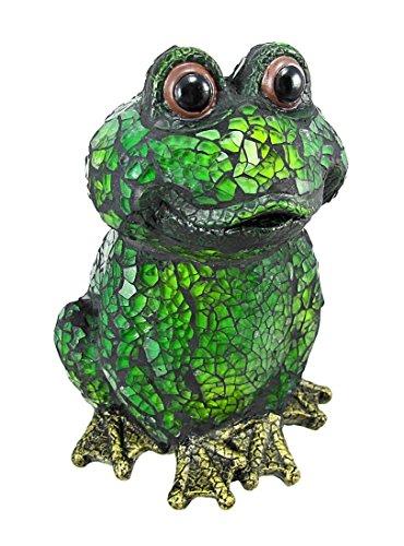 Green American Bullfrog Frog Toad Crackle Glass Desk Table Lamp (TLS1025)