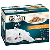 Purina Gourmet Perle Wet Cat Food Mini Fillets in Gravy, 12 x 85 g - Chef's Collection (Pack of 4)