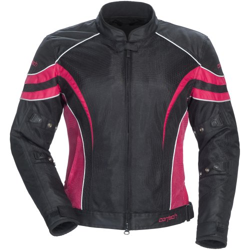 (Cortech LRX Air 2.0 Women's Textile On-Road Motorcycle Jacket - Black/Pink /)