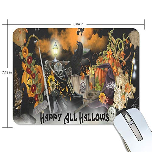 Mouse Pad Halloween Mystery Decoration Wallpaper Gaming Mousepad 3D Small Thick Mouse Mat Black Personalized Mouse Pads