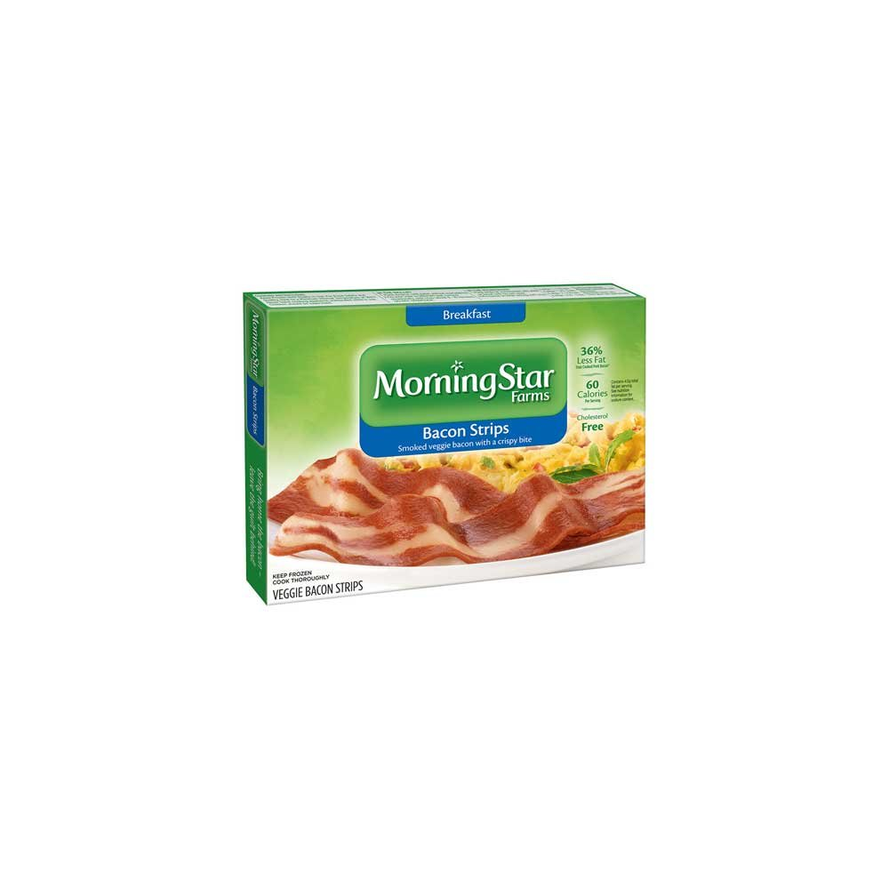Kelloggs Morningstar Breakfast Veggie Bacon Strip, 5.25 Ounce -- 12 per case.