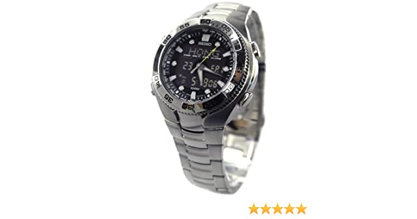 Amazon.com: Seiko #SNJ013 Mens World Time Analog Digital Chronograph Alarm Watch: Watches