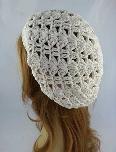 - Organic Cotton Slouchy Beanie Hat for Women Ivory