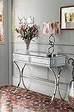 MY-Furniture - Console/table AURELIA miroir et chrome style Barcelone