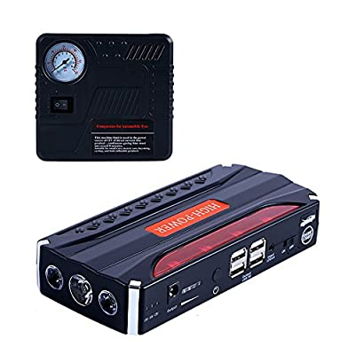 600A 16800mAh~80000mAh Car Jump Starter 12V with air pump with 4USB fast charging built-in LED lighting multi-function car emergency backup power supply