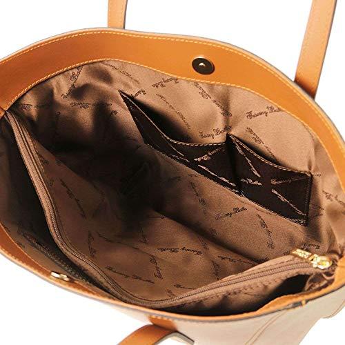 Cuero De Al Leather Tl141790 Marrón Compact Para Bolso Tuscany Hombro Mujer nOHYqnx