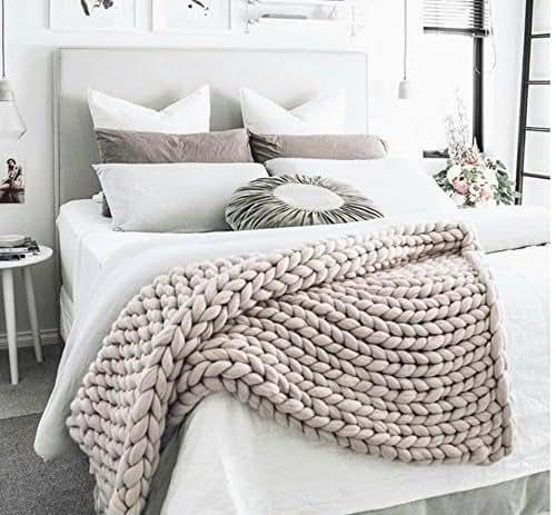 king size giant blanket giant knitting chunky blanket merino blanket queen. Black Bedroom Furniture Sets. Home Design Ideas