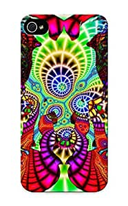 QSHAej-1111-AlWpT Anti-scratch Case Cover Marvelouscases Protective Abstract Fractal Case For Iphone 5/5s