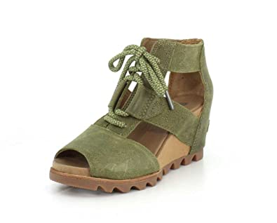 b3399148f524 SOREL Women s Joanie Lace Wedge Sandal (6 B(M) US) Olive Drab