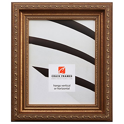 Antique Finish Brushed Gold - Craig Frames 6607 18 by 24-Inch Picture Frame, Smooth Ornate Finish, 2-Inch Wide, Brushed Antique Gold